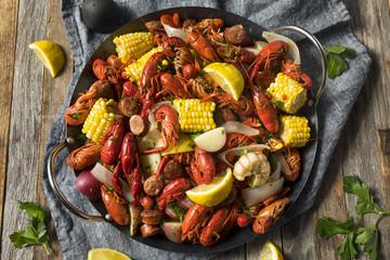 Homemade Southern Crawfish Boil
