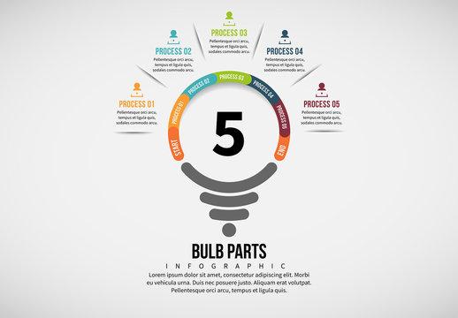 Light Bulb Process Infographic 3