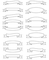 vector set of banners ribbons, vintage ribbon