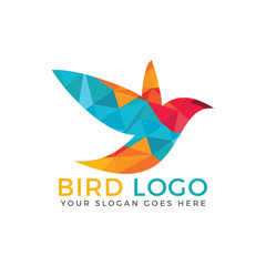 Bird vector logo design.