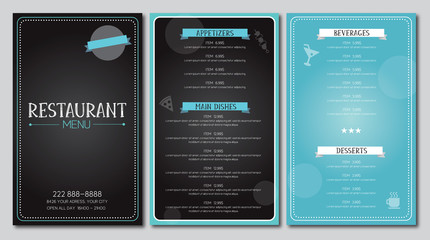 Restaurant menu flyer template design vector