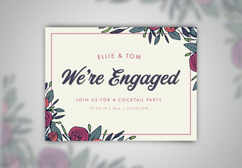 Engagement Announcement Social Media Post 1