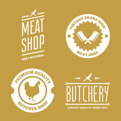 Vector set of butchery labels, badges and design elements