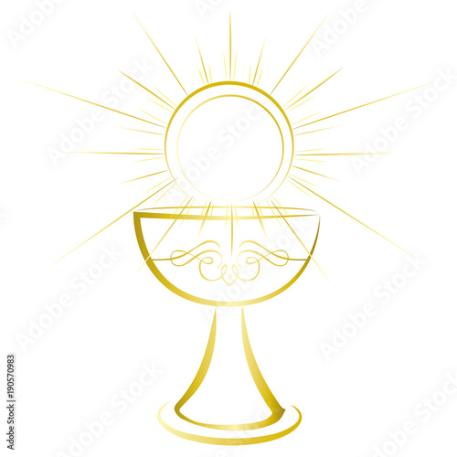 First Holy Communion Symbol Gold Chalice Stock Image And Royalty