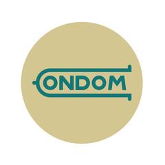 Logotipo CONDOM en circulo gris