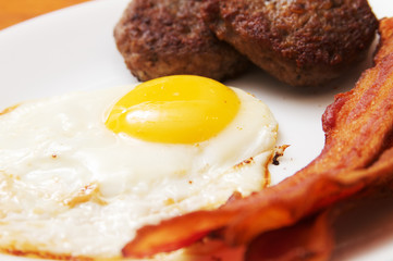 Eggs Bacon and Sausage