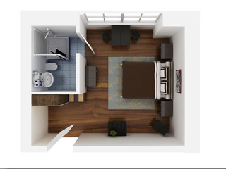 3d render room