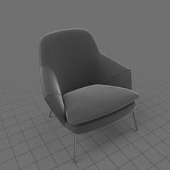 Armchair with rounded back