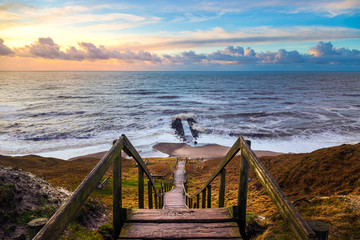 Stairs to the beach at Bovbjerg Fyr