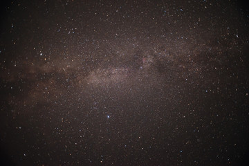 The Milky Way is our galaxy. This long exposure astronomical photograph of the nebula.