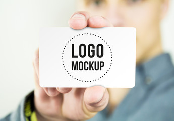 Close-Up Business Card Mockup 1
