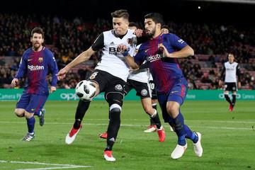 Spanish King's Cup Semi Final First Leg - FC Barcelona vs Valencia
