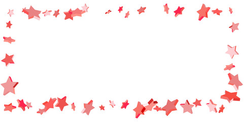 Falling stars on a white background