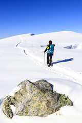 Randonnée en raquettes neige