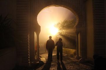 Shadows at the gate