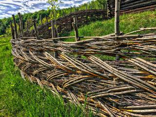 A wattle fence (decorative), background, Kiev