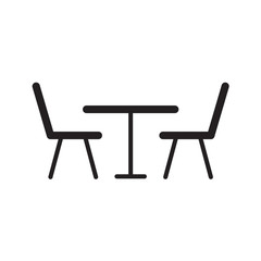 table and chairs icon- vector illustration
