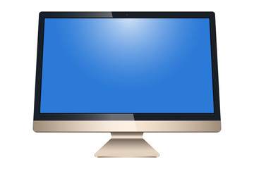Monitor, LCD isolated on a white background - vector stock