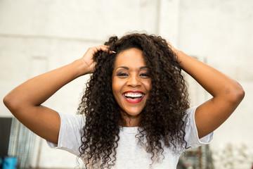 Beautiful Sexy Black Woman Looking at the Camera