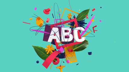 Colorful composition ABC