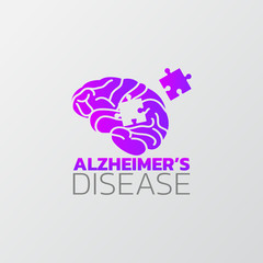 Risk factors for Alzheimer's disease icon design, infographic health, medical infographic. Vector illustration