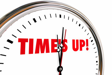 Times Up Clock End Sexual Harassment Abuse Power 3d Illustration
