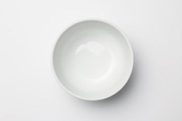 White bowl on white background