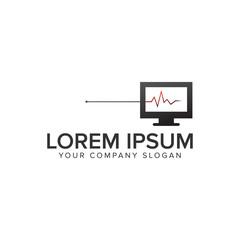 computer Diagnosis logo design concept template. fully editable vector