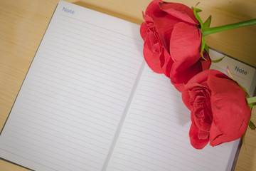 Red Rose at Notebook