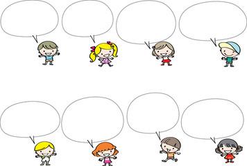 cartoon kids with borer