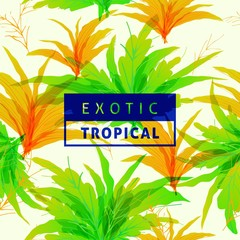 Spring tropical leaves pattern seamless background with vibrant nature color