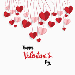 Happy valentine day. with creative love composition of the hearts. Vector illustration