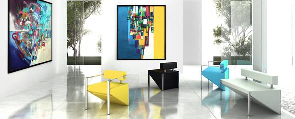 Modern Art Exhibition (panoramic)