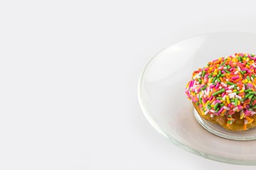 Delicious Donut with Sprinkles Isolated