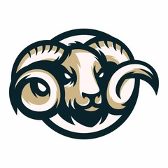 Animal Head - ram - vector logo/icon illustration mascot