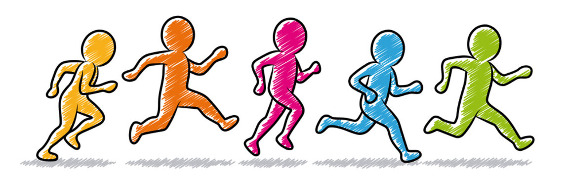 small - stick man running clipart PNG image with transparent background    TOPpng