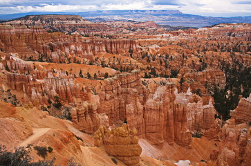 View from Sunset Point in Bryce Canyon in Utah in the USA