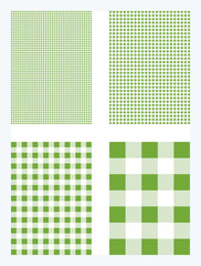 Green Gingham Pattern Background