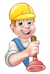 Cartoon Character Plumber