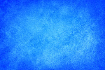 Blue watercolor paint abstract texture scanned background