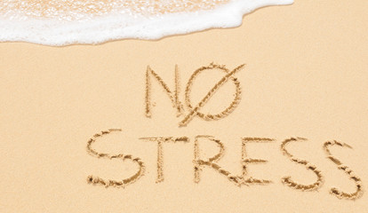 No stress on the beach