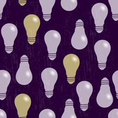 Seamless pattern. The bulbs light