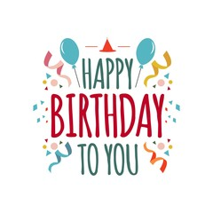 Happy Birthday to You Vector Template Design