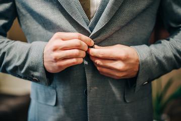 Gray male jacket