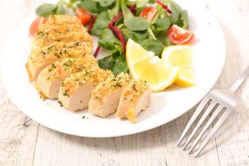 chicken fillet and salad
