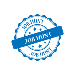 Job hunt blue stamp illustration