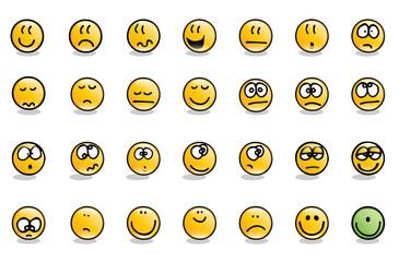 Set of emoticons. Hand drawn