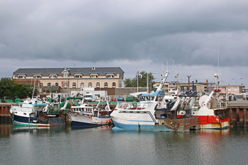 Le Treport Harbour, France