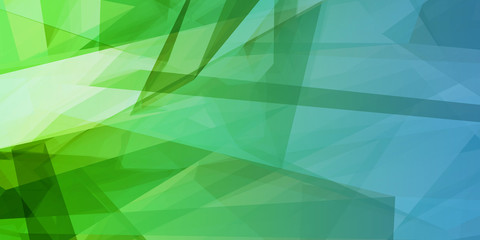 Blue Green Low Poly Background Wall mural