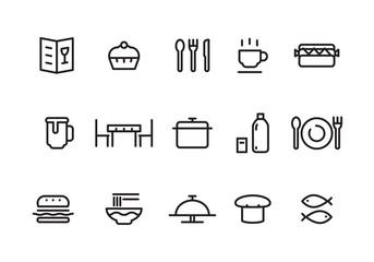 simple food icon, vector